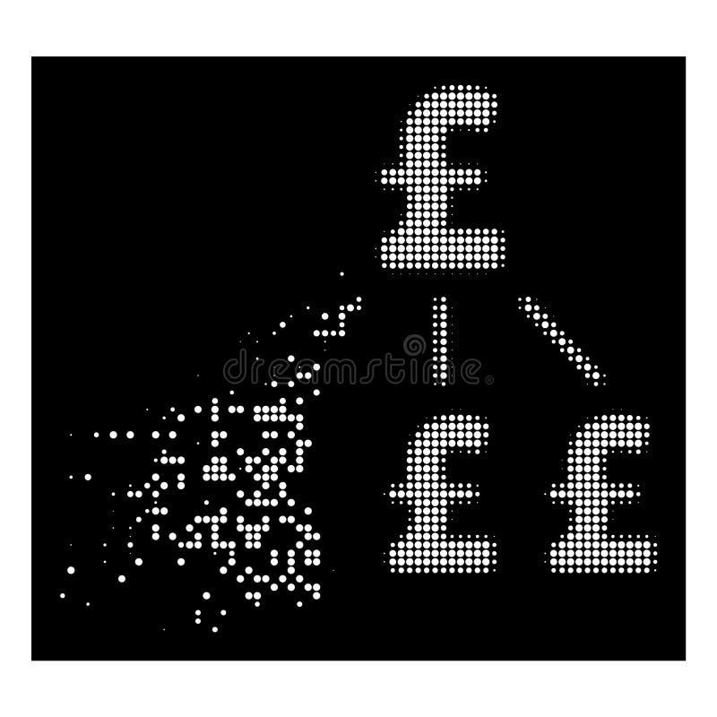 明亮的运动的被加点的半音磅财务结构象 皇族释放例证