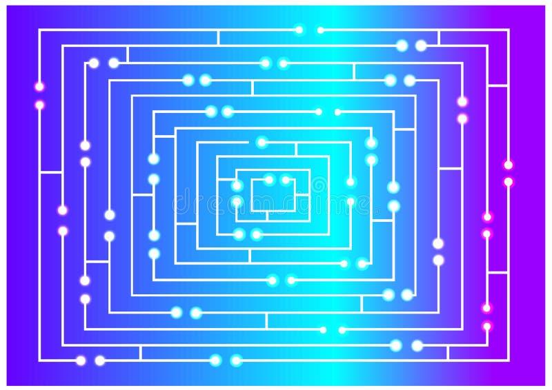 明亮的迷宫概念的彩色插图 向量例证