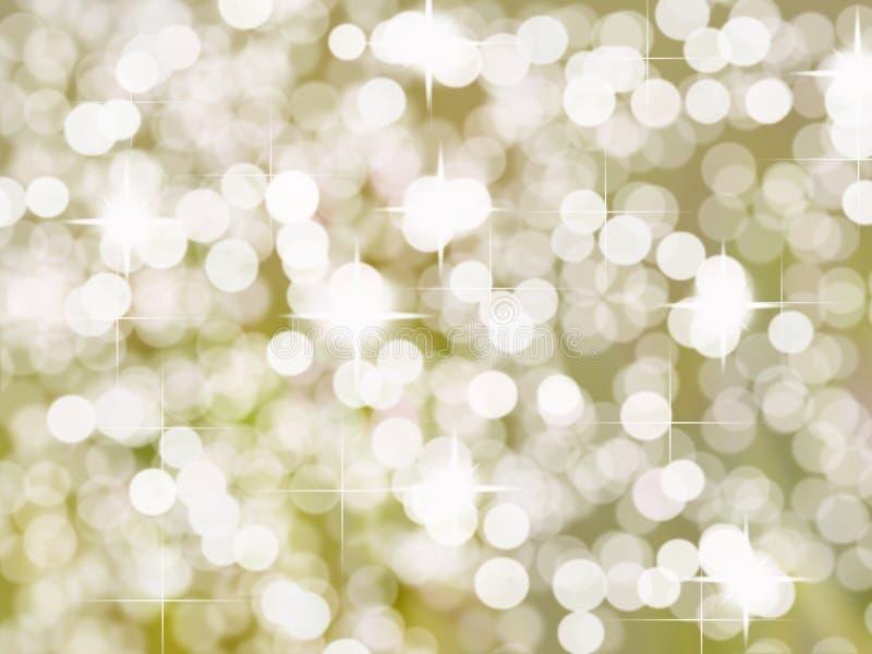 明亮的金黄银色小点背景 库存例证