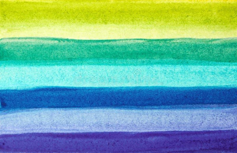 明亮的镶边手拉的水彩背景 向量例证