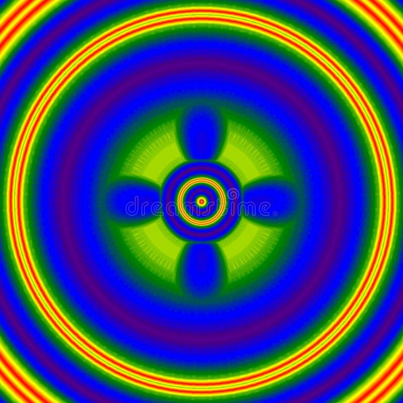 明亮的闪耀的闪光,霓虹焕发,影响凶眼 向量例证