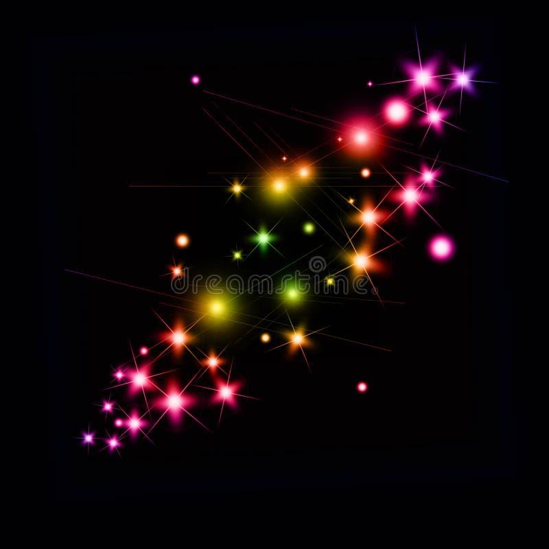 明亮的闪闪发光 向量例证