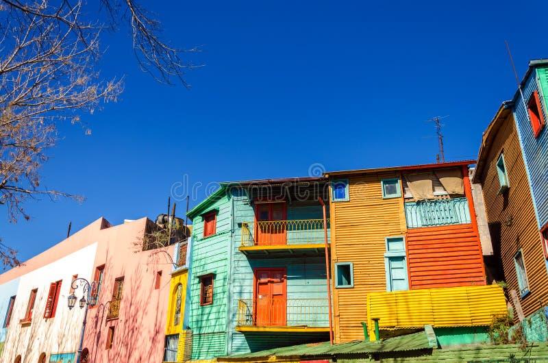明亮的颜色在布宜诺斯艾利斯 免版税图库摄影