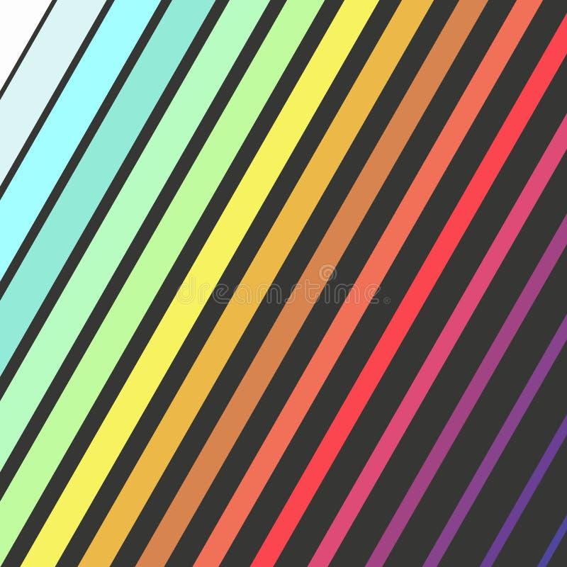 明亮的颜色对角长方形,与几何长方形形状的五颜六色的设计 库存例证