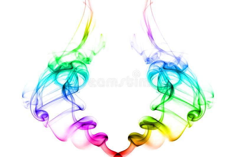 明亮的颜色彩虹烟旋转二 图库摄影