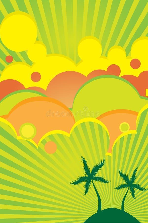 明亮的颜色海报夏天 向量例证