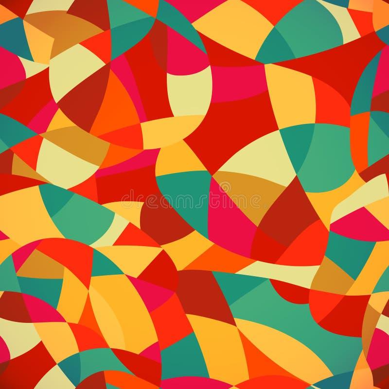 明亮的颜色马赛克无缝的样式,传染媒介例证看 向量例证