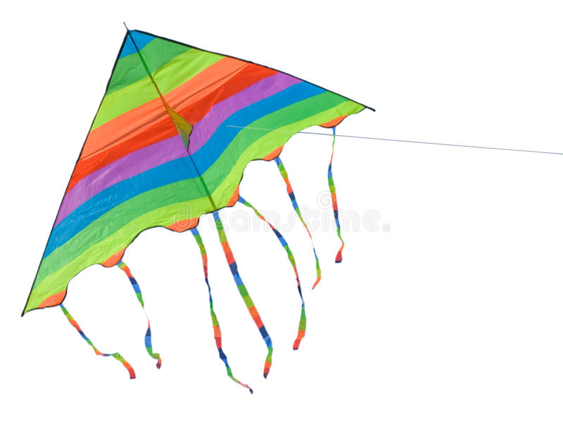 明亮的风筝 免版税库存图片