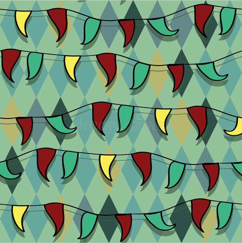 明亮的马戏装饰品无缝的向量 向量例证