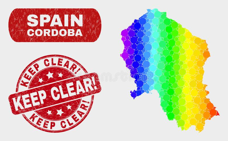 明亮的马赛克科多巴西班牙省地图和抓保留明白!封印 库存例证