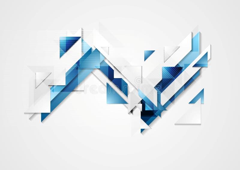 明亮的高科技几何背景 库存例证