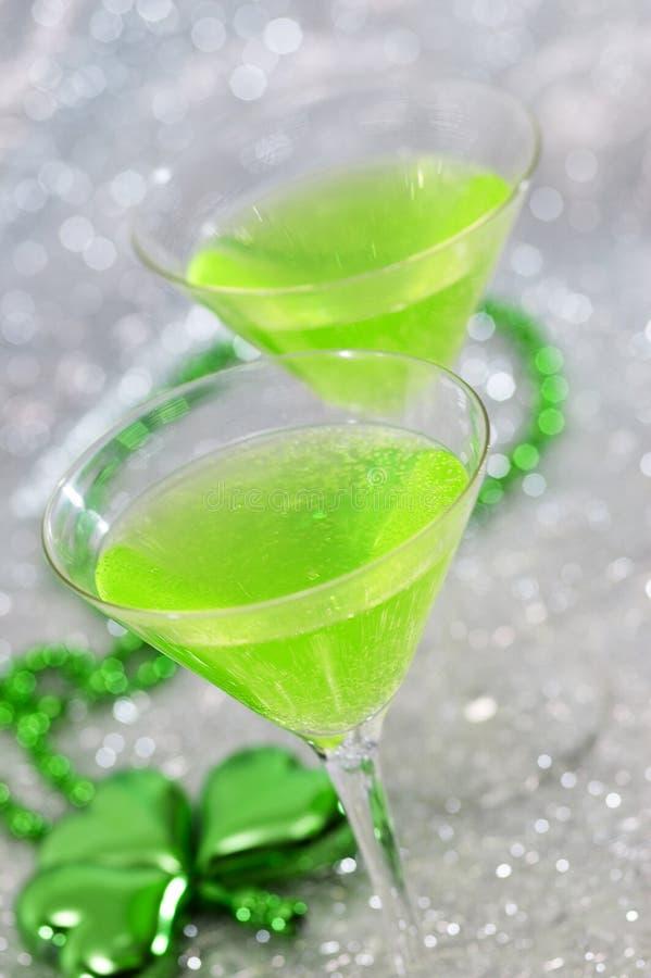 明亮的鸡尾酒绿色 库存图片