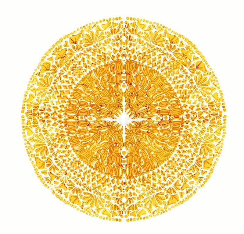 明亮的黄色坛场 传染媒介葡萄酒例证 库存例证