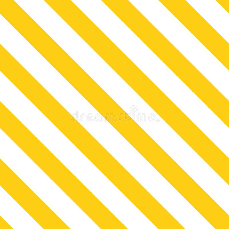 明亮的黄色由几何线做的夏天颜色装饰对角背景 模式无缝的向量 皇族释放例证