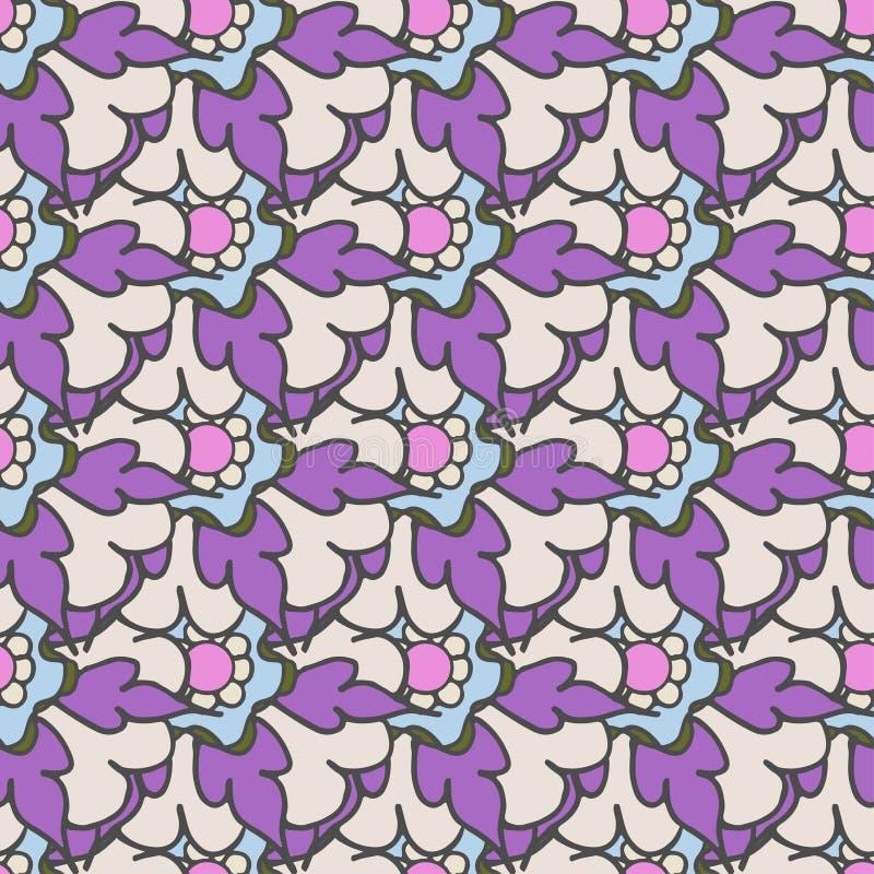Download 明亮的紫色手拉的花卉无缝的样式 向量例证. 插画 包括有 本质, 无缝, 工厂, 数字式, 花卉, 多彩多姿 - 72358922