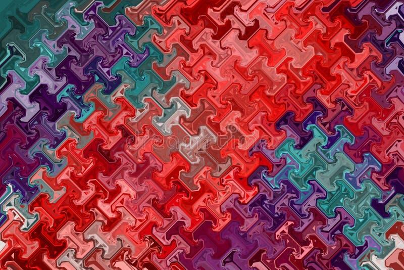 明亮的T形的充满活力的抽象背景 库存例证