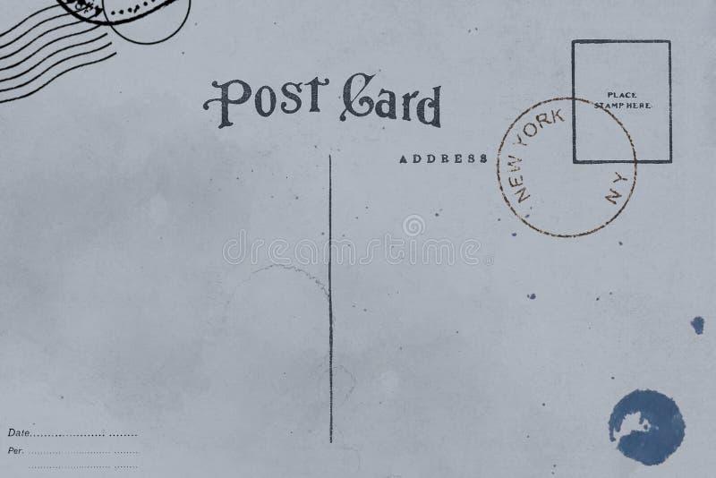 明信片后侧方与肮脏的污点的 库存图片