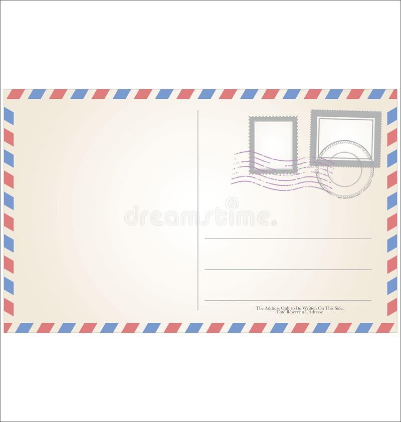 明信片模板例证减速火箭的葡萄酒设计 库存例证