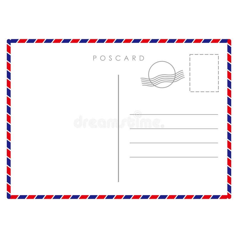 明信片模板纸白色纹理 库存例证