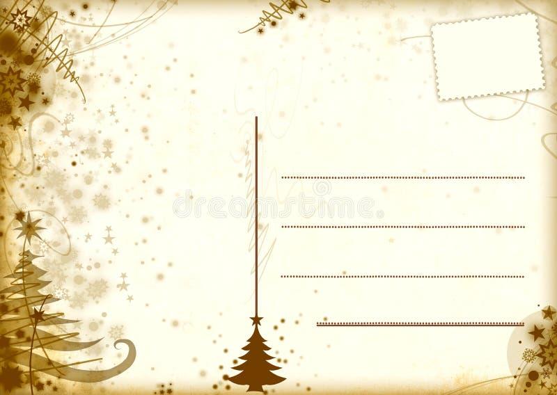 明信片葡萄酒xmas 皇族释放例证