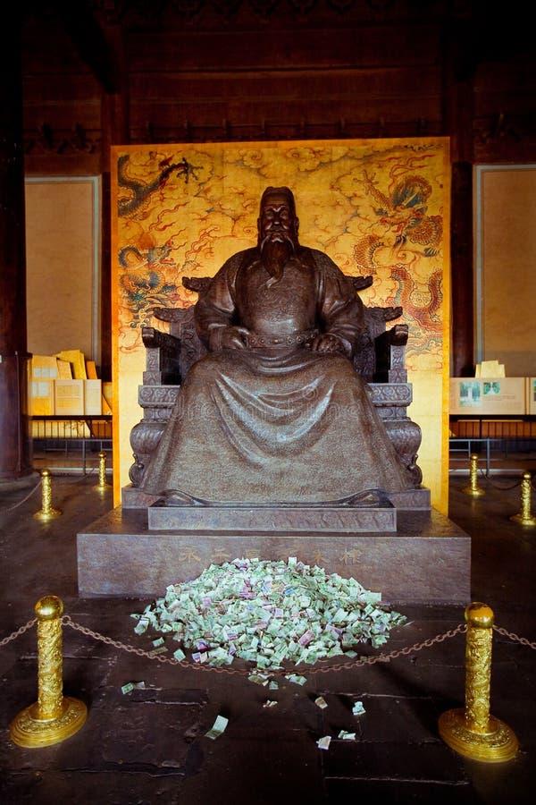 明十三陵在北京,中国 免版税库存照片