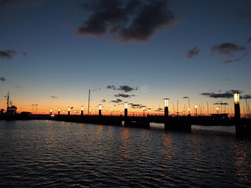 黎明在Helsinborg,瑞典 图库摄影