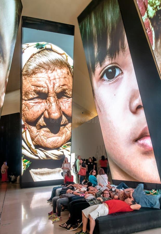 明天博物馆或Museu做Amanha内部-里约热内卢,巴西 免版税库存照片