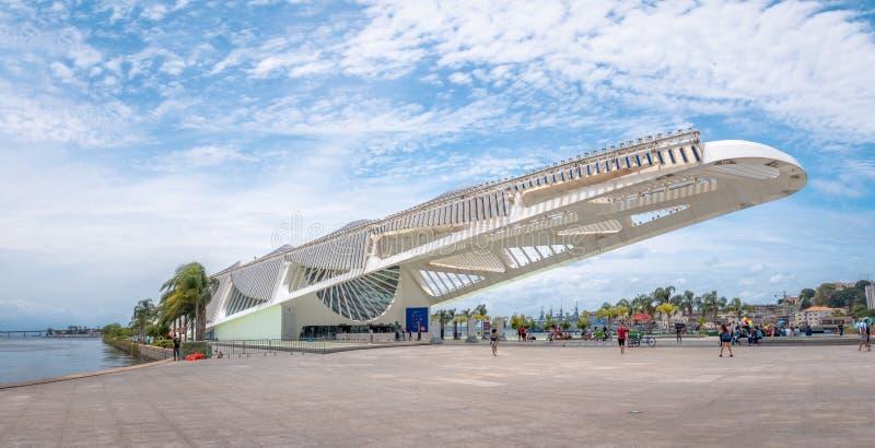 明天博物馆或Museu做Amanha -里约热内卢,巴西 库存照片