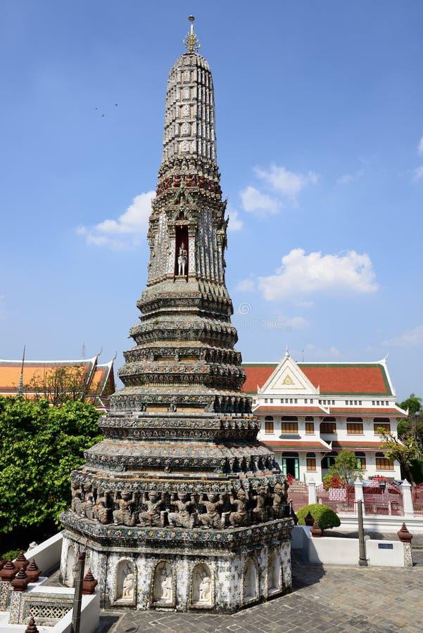 黎明寺寺庙,曼谷泰国 图库摄影