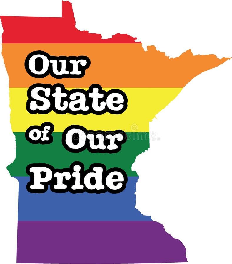 明尼苏达同性恋自豪日传染媒介状态标志 库存例证