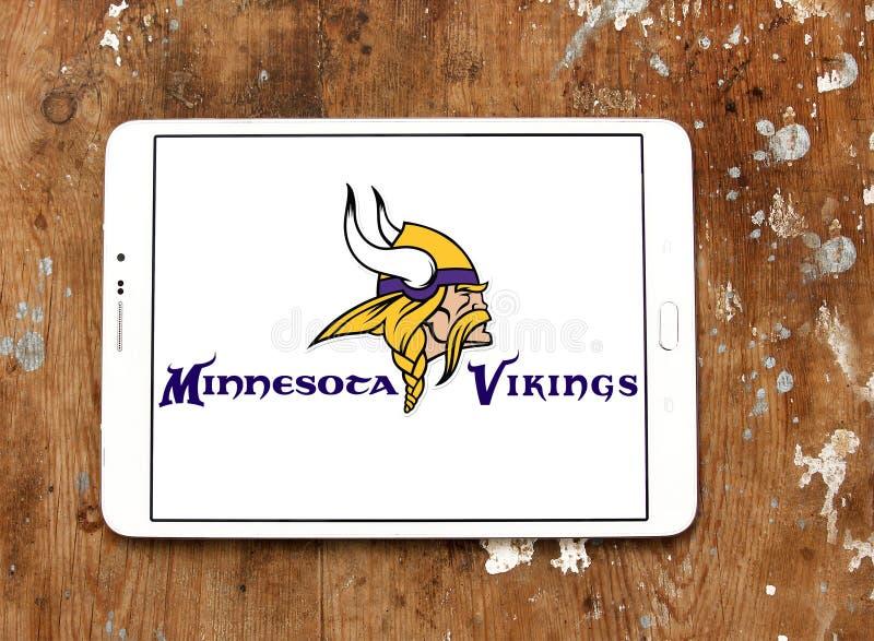 明尼苏达维京人橄榄球队商标 库存照片