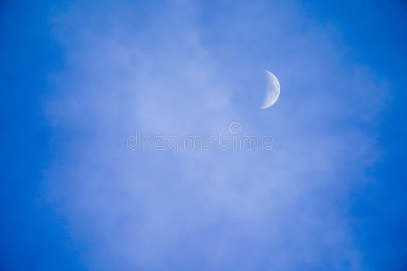 明显地与白色甲晕的美丽的天空蔚蓝 免版税图库摄影