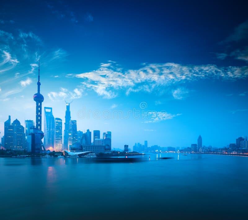 黎明的上海 库存照片