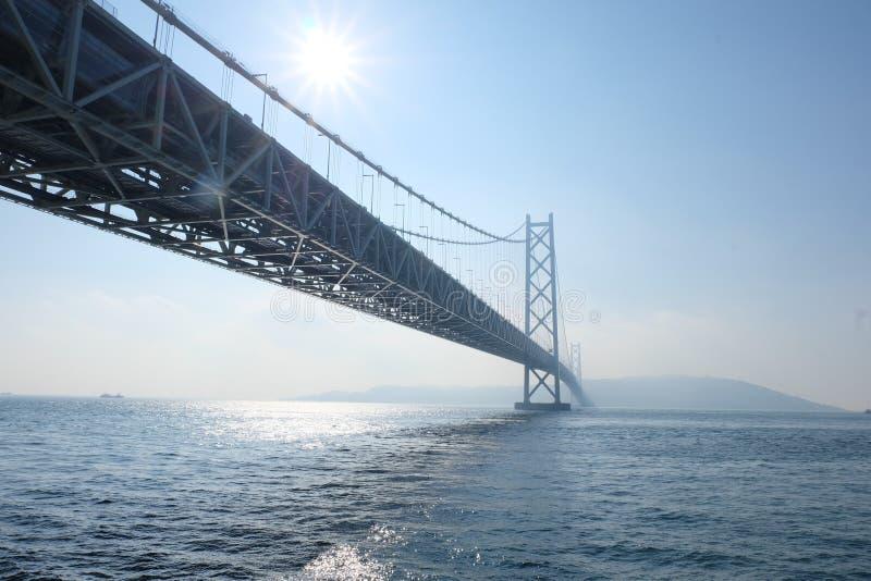 明石Kaikyo桥梁在神户,日本 图库摄影