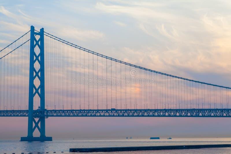 明石Kaikyo桥梁 免版税图库摄影
