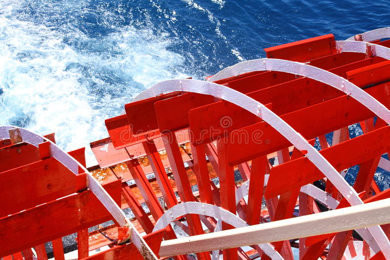 明轮巡航小船 库存照片