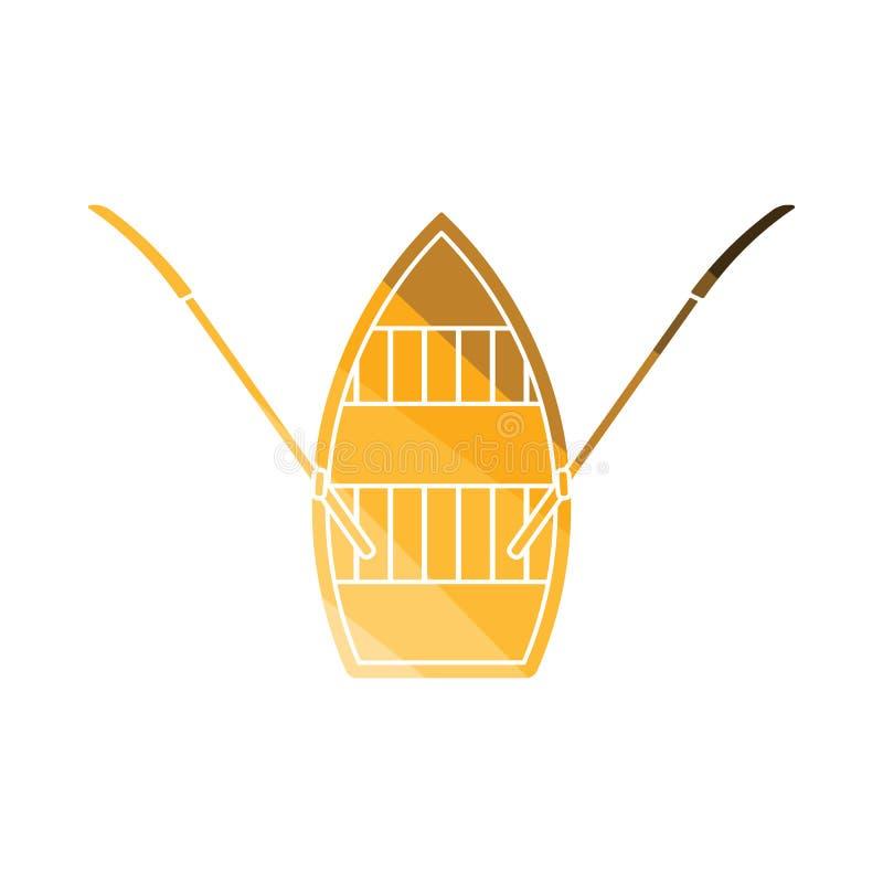 明轮船象 向量例证