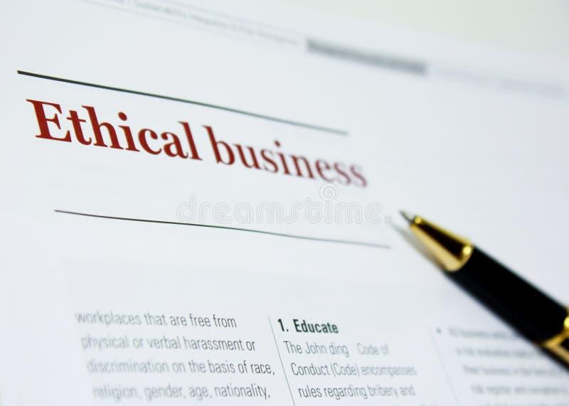 商业道德 免版税库存照片