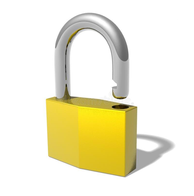 明锁 向量例证