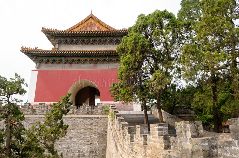 明代坟茔陵墓 库存照片