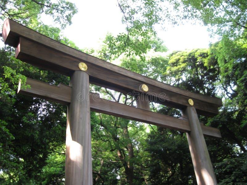 明治神宫入口 库存照片