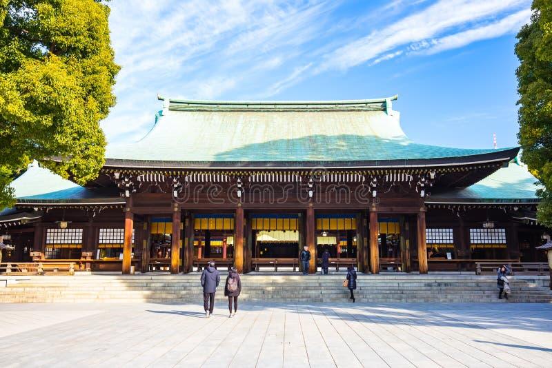 明治神宫在东京,日本 库存照片