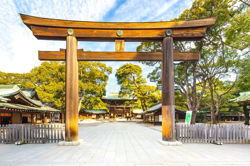 明治神宫在东京,日本 免版税库存照片