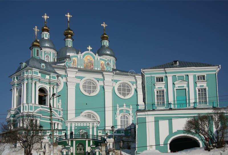 易三仓礼拜堂的看法在斯摩棱斯克,俄罗斯 库存照片
