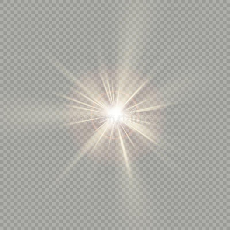 易使用 阳光特别透镜火光光的作用 10 eps 向量例证