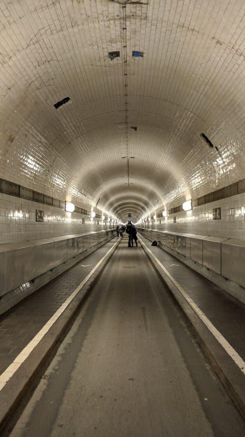 易北河隧道在汉堡,德国 免版税库存图片