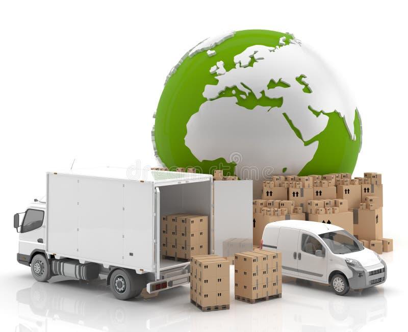 贸易在欧洲-运输 皇族释放例证