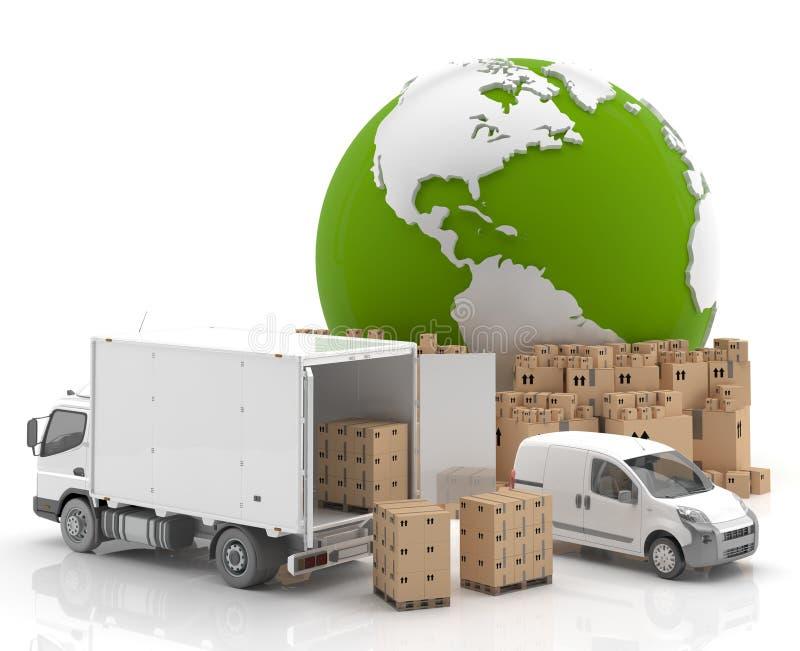 贸易在美国运输-做的美国 库存例证