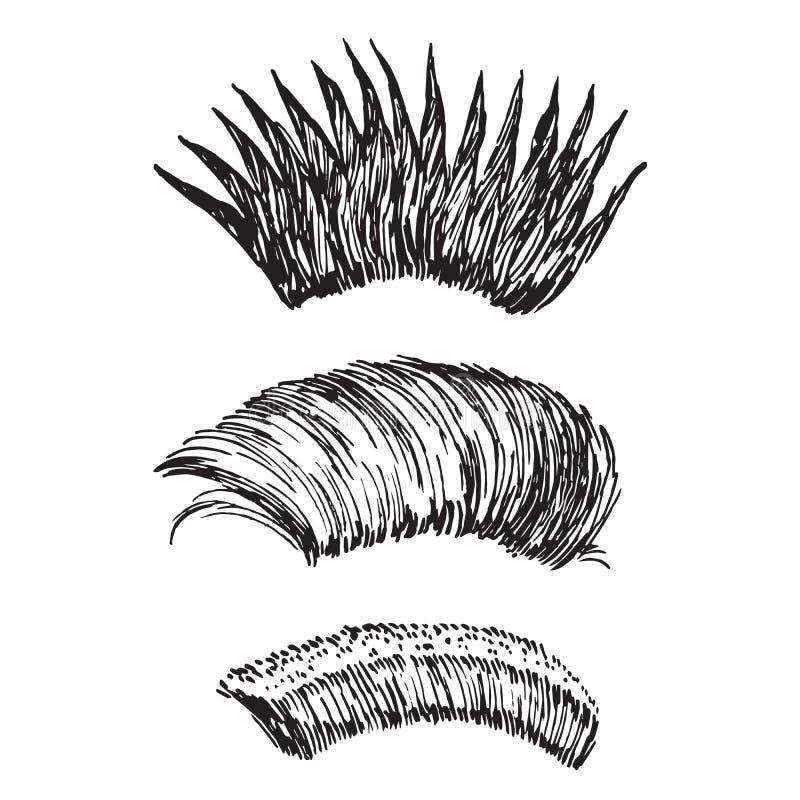 易洛魁族的类型:针对性,防堤和短,手拉的乱画,在木刻样式,传染媒介例证的剪影 皇族释放例证