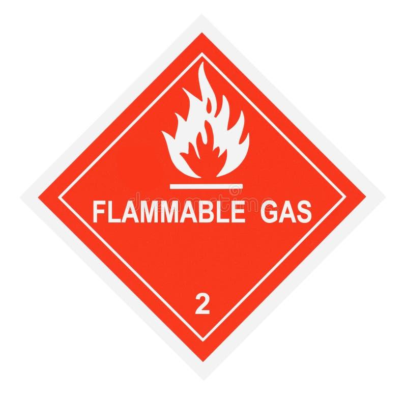 易燃性气体标签警告 向量例证